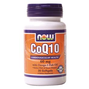 Co-Q10 Omega 3 - 60mg 30 cáps - NOW