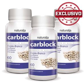 Pack 3 Carblock Faseolamina Naturalia